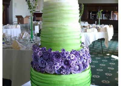 Lime green and purple